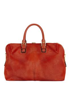 "Red leather bag ""two in one"""
