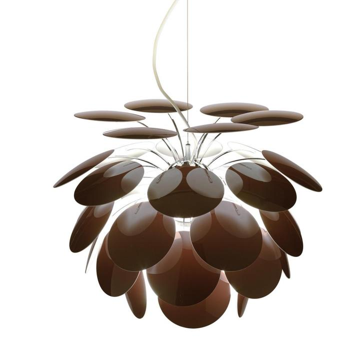 Ceiling chandelier brown plastic petals