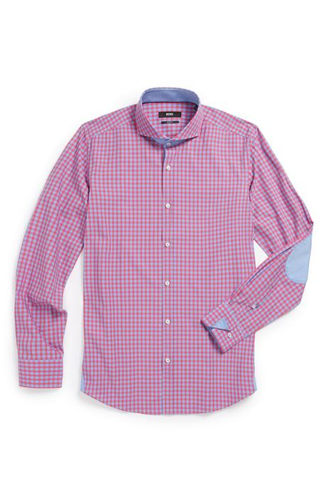 Checked shirt in blue and pink