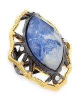 Statement ring with blue sodalite